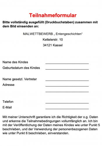 Teilnahmebedingungen-Teilnahmeformular